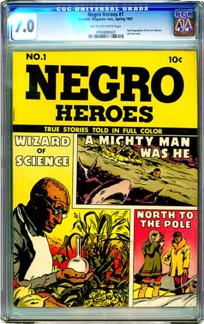 CGC Graded Comics - Negro Heroes #1 (CGC) - Negro Heroes - No 1 - Spring 1947 - Comic - Wizard Of Science