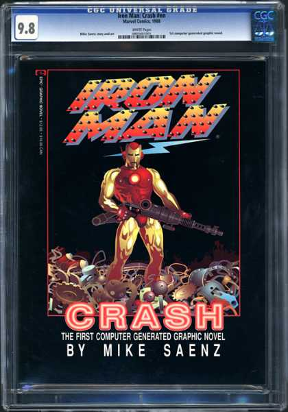 CGC Graded Comics - Iron Man: Crash #nn (CGC) - Iron Man - Marvel Comics - Crash - Gun - Computer Generated Graphic Novel