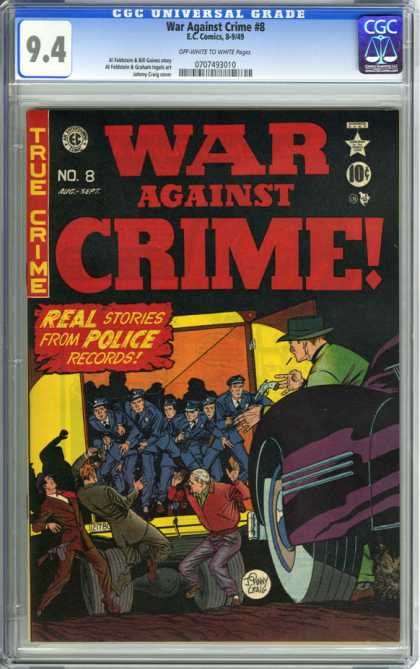 CGC Graded Comics - War Against Crime #8 (CGC)