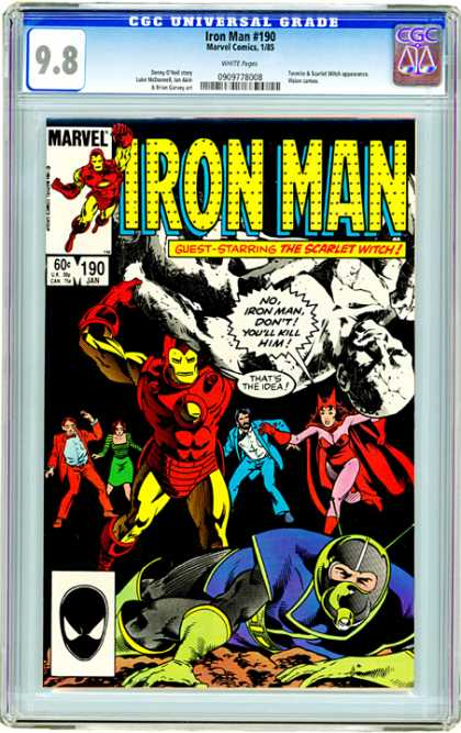 CGC Graded Comics - Iron Man #190 (CGC)
