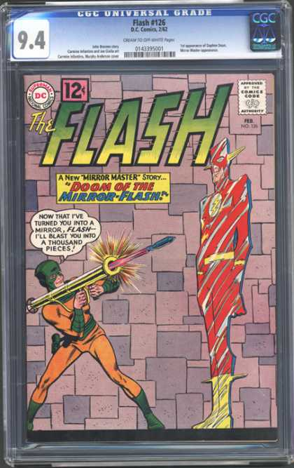 CGC Graded Comics - Flash #126 (CGC) - Doom Of The Mirror Flash - Dc Comics - Yellow Boots - Rocket Launcher - Green Mask