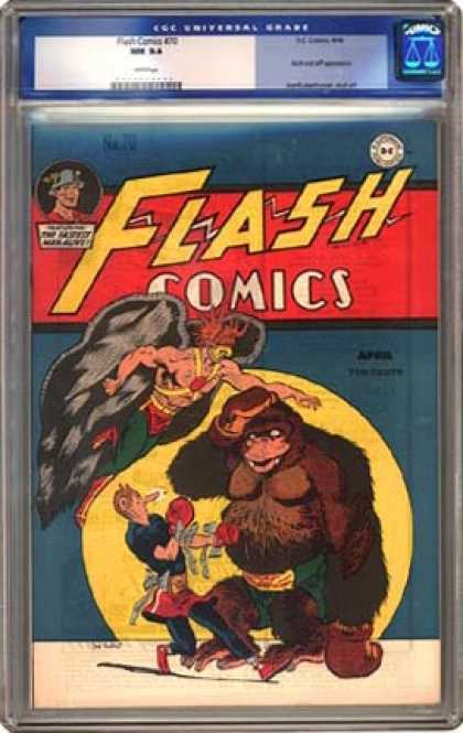 CGC Graded Comics - Flash Comics #70 (CGC) - Flash Comics - Superman - Dc - Moon - National Comics