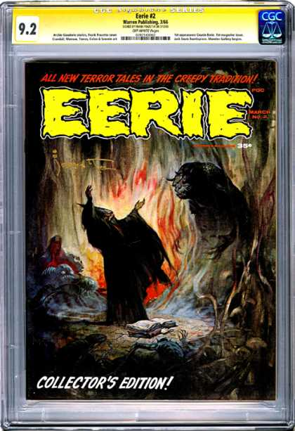 CGC Graded Comics - Eerie #2 (CGC) - All New Terror Tales - Creepy Tradition - Fire - Horned Monster - Wizard