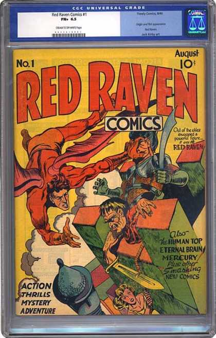 CGC Graded Comics - Red Raven Comics #1 (CGC) - Flying Hero - Castle - Red Raven - Armor - Sword