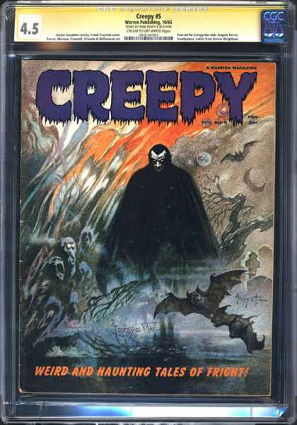 CGC Graded Comics - Creepy #5 (CGC) - Creepy Comic - Issue Number 5 - Weird And Haunting Tales - Scary Comic - Fright