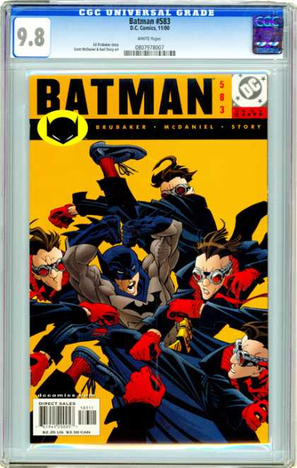 CGC Graded Comics - Batman #583 (CGC) - Fighting - Clones - Dark Knight - Red Gloves - Gang