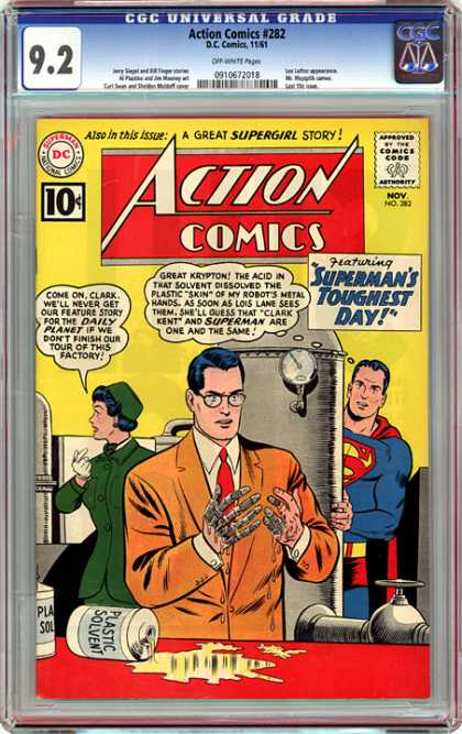 CGC Graded Comics - Action Comics #282 (CGC)
