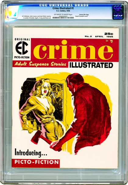 CGC Graded Comics - Crime Illustrated #2 (CGC) - Crime - Illustrated - 25cent - Picto-fiction - Girl