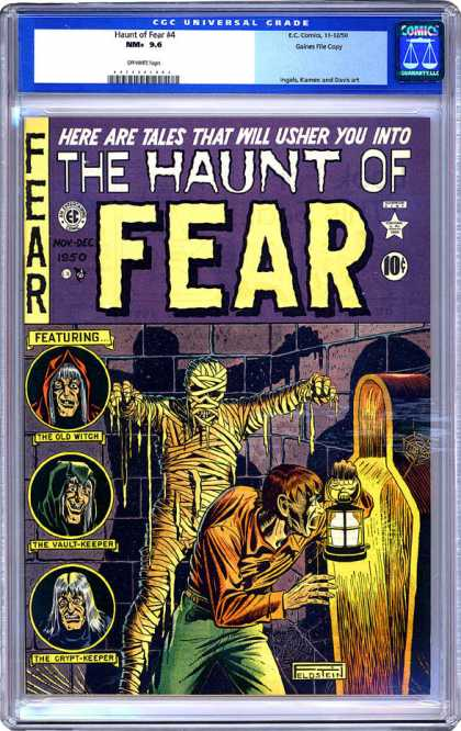 CGC Graded Comics - Haunt of Fear #4 (CGC) - A Mummy - Hunchback - Lantern - Coffin - Shadows