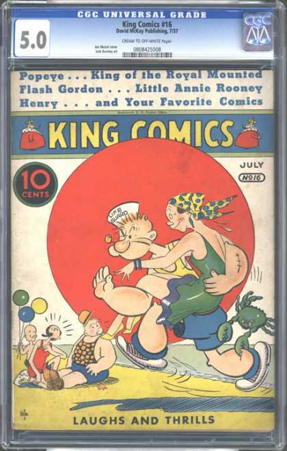 CGC Graded Comics - King Comics #16 (CGC) - King Comics - Little Annie Rooney - Popeye - Flash Gordon - Henry