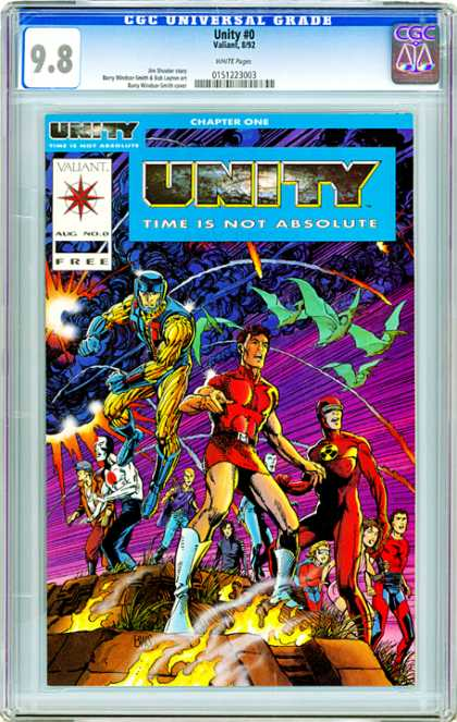 CGC Graded Comics - Unity #0 (CGC) - Time Is Not Bsolute - Unity - Chapter One - Aug No 9 - Surprised