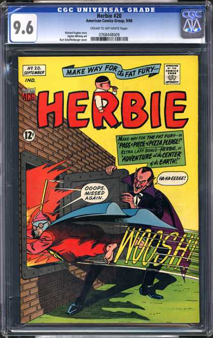 CGC Graded Comics - Herbie #20 (CGC) - Herbie - Flames - Brick Wall - Oops Missed Again - Sucker