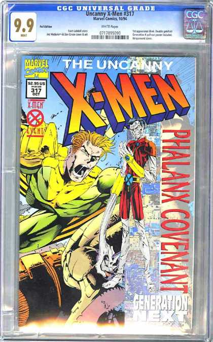 CGC Graded Comics - Uncanny X-Men #317 (CGC) - Uncanny - Marvel - Palanx - Covenant - Generation Next