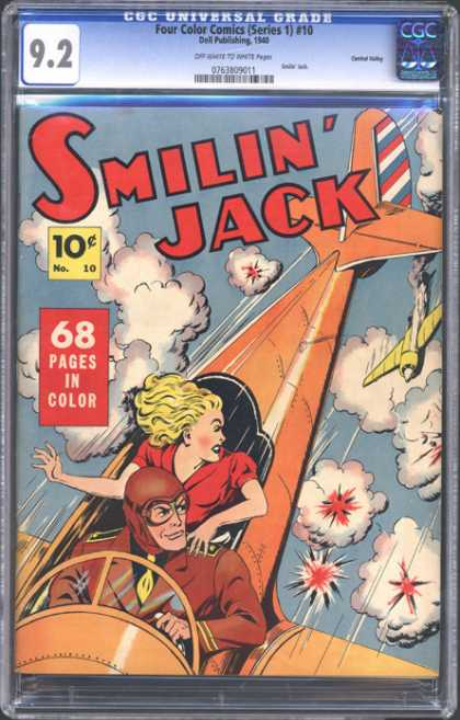 CGC Graded Comics - Four Color Comics (Series 1) #10 (CGC) - 10 Cents - Airplane - Smilin Jack - Aircraft - Pilot
