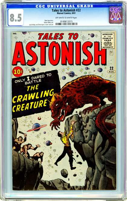 CGC Graded Comics - Tales to Astonish #22 (CGC) - Plantets - Stars - One Man - One Animal - Stones