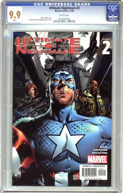 CGC Graded Comics - Ultimate Nightmare #2 (CGC) - Blue Suit - Guns - Crime - Battleship - Jets