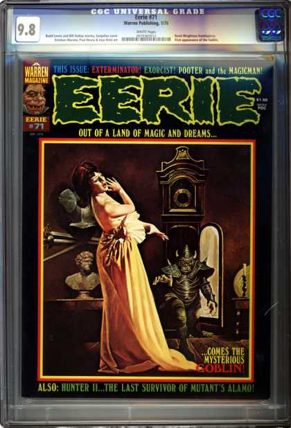 CGC Graded Comics - Eerie #71 (CGC) - Grandfather Clock - Mysterious Goblin - Land Of Magic And Dreams - Exorcist - Bust