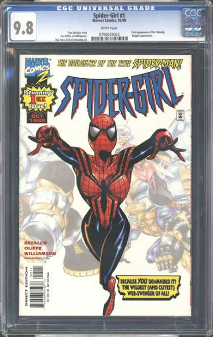 CGC Graded Comics - Spider-Girl #1 (CGC) - Spider-girl - Superhero - Marvel Comics - Approved By The Comics Code - Stunning 1st Issue