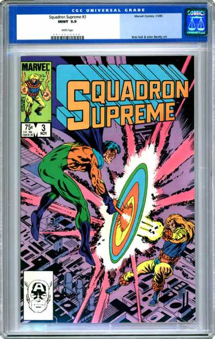 CGC Graded Comics - Squadron Supreme #3 (CGC) - Squadron Supreme - City - Marvel - Fighting - Rainbow Light