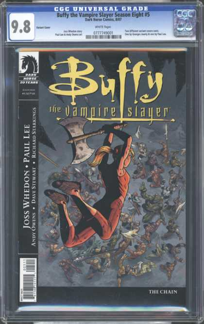 CGC Graded Comics - Buffy the Vampire Slayer Season Eight #5 (CGC) - Catwomen - Earth Child - Twilight - Catch Me If You Can - Night World