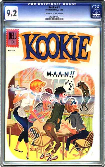 CGC Graded Comics - Kookie #1 (CGC) - Kookie - M-a-a-n - Musical Notes - Cafe - Waitress