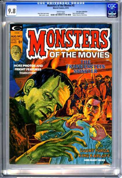 CGC Graded Comics - Monsters of the Movies #2 (CGC) - Monsters - Aug N 2 - Man - Frankenstein - Countyorga King Karloff