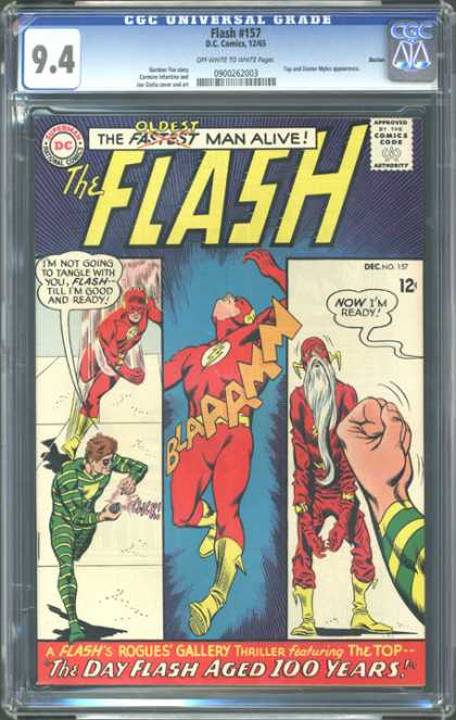 CGC Graded Comics - Flash #157 (CGC) - Flash - Comics - Red - Cartoons - Green