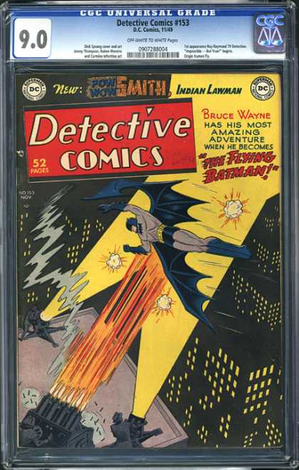CGC Graded Comics - Detective Comics #153 (CGC) - Detective Comics - Dc Comics - Superman - National Comics - Indian Lawman