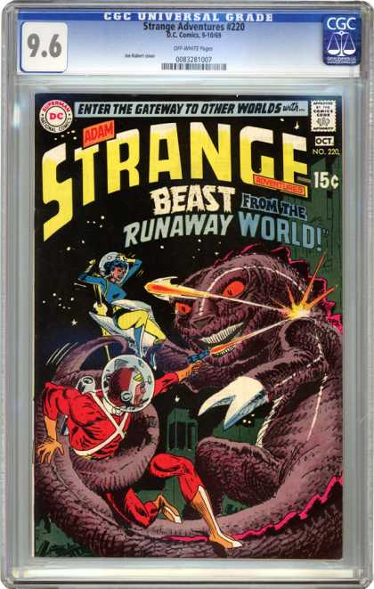 CGC Graded Comics - Strange Adventures #220 (CGC) - Adam Strange - Beast - Runaway World - Space - Gateway