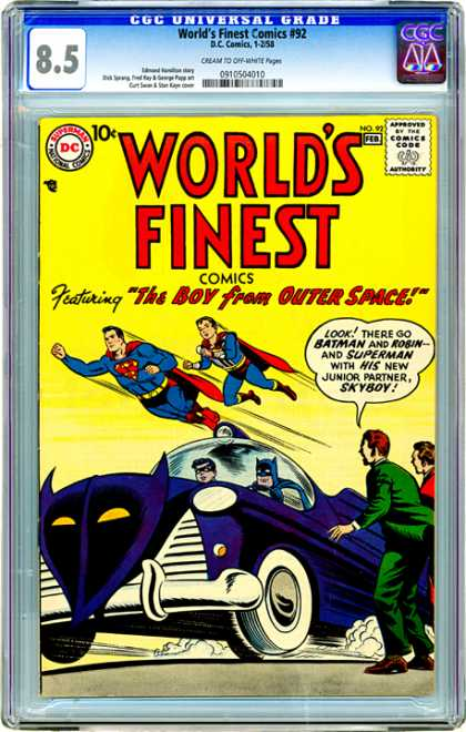 CGC Graded Comics - World's Finest Comics #92 (CGC)