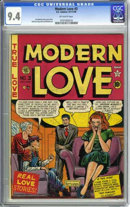 CGC Graded Comics - Modern Love #3 (CGC) - Women - Men - Room - Sofa - Chair