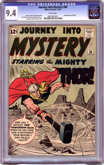 CGC Graded Comics - Journey into Mystery #86 (CGC) - Journey Into Mystery - Mighty Thor - Strong Muscled Warrior - Tomorrow Man - Red Cape