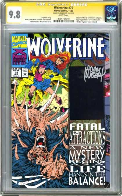CGC Graded Comics - Wolverine #75 (CGC) - Marvel - Wolverine - Fatal Attractions - November - X-men