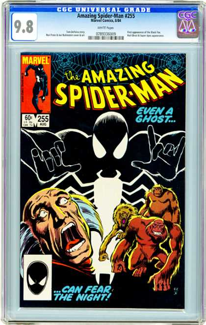 CGC Graded Comics - Amazing Spider-Man #255 (CGC) - Lovely - Anticipating - Extra-ordinary - Cookies - Humourous