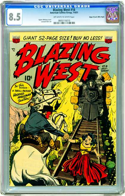 CGC Graded Comics - Blazing West #18 (CGC)