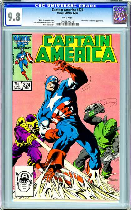 CGC Graded Comics - Captain America #324 (CGC)