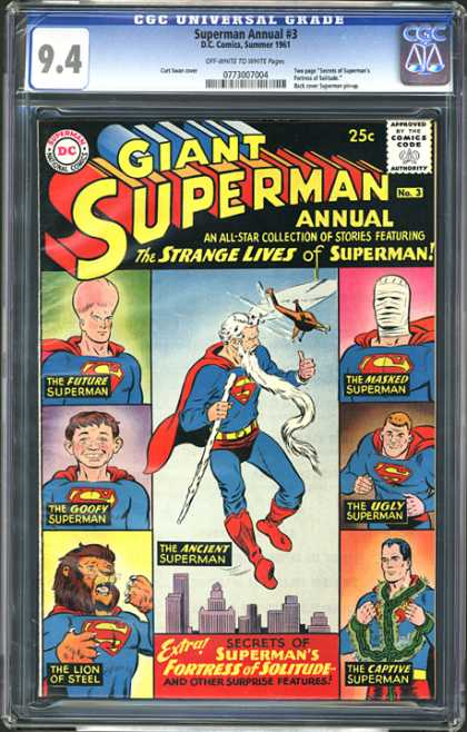 CGC Graded Comics - Superman Annual #3 (CGC) - Giant Superman - Annual - All-star - Strange Lives Of Superman - Stories