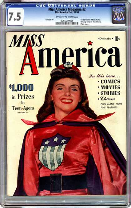 CGC Graded Comics - Miss America Magazine #2 (CGC) - Miss America - Prizes For Teen-agers - Woman Dressed As Superhero - Feature Articles - Comics