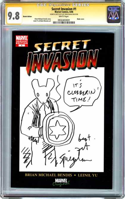CGC Graded Comics - Secret Invasion #1 (CGC) - Secret Invasion - Marvel - Mouse - Brian Michael Bendis - Leinil Yu