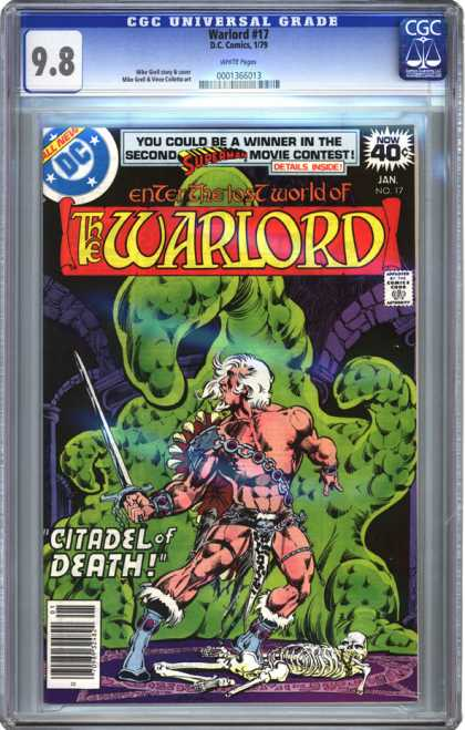 CGC Graded Comics - Warlord #17 (CGC) - Dc - Dc Comics - Warlord - Citadel Of Death - Monster