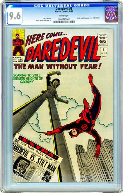 CGC Graded Comics - Daredevil #8 (CGC) - Dare Devil - Stiltman - No Fear - Glory - Good Vs Evil