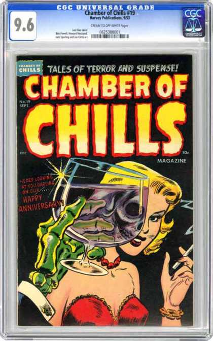 CGC Graded Comics - Chamber of Chills #19 (CGC) - Terror - Zombie - Skeleton - Glass - Cigarette