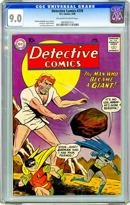CGC Graded Comics - Detective Comics #278 (CGC) - Batman - Robin - Giant - Rock - Circle