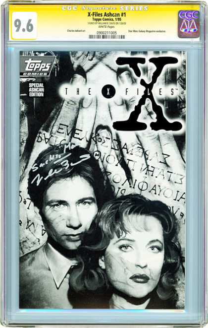 CGC Graded Comics - X-Files #1 (CGC) - X-files - Mulder U0026 Scully - Cgc Grade 96 - Topps Comics - Tv Series