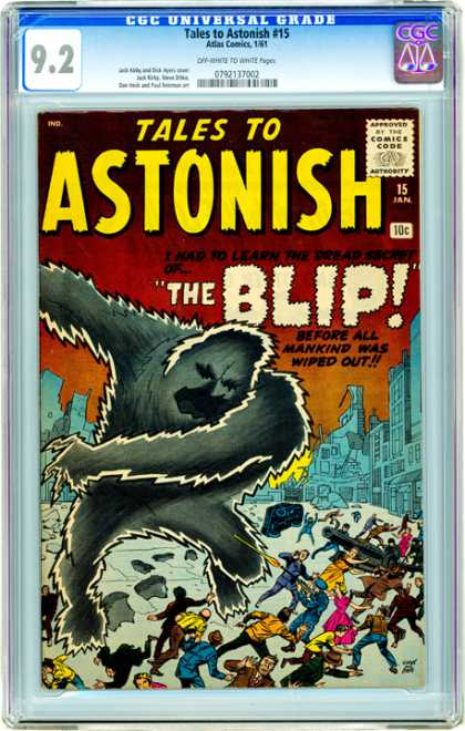 CGC Graded Comics - Tales to Astonish #15 (CGC) - Tales To Astonish - Blip - Destruction - Mob - Monster