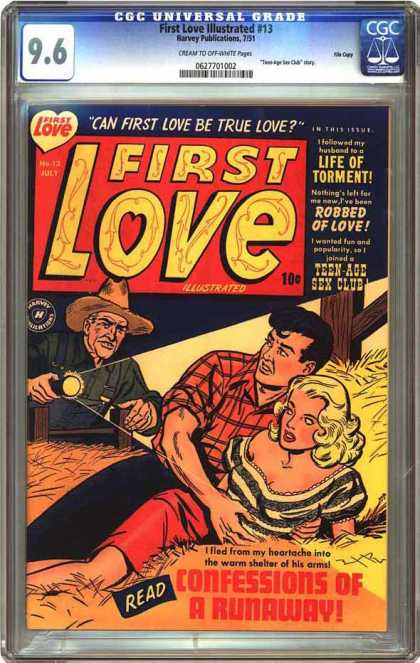 CGC Graded Comics - First Love Illustrated #13 (CGC) - First Love - Farmer - Hayloft - Confessions Of A Runaway - Life Of Torment