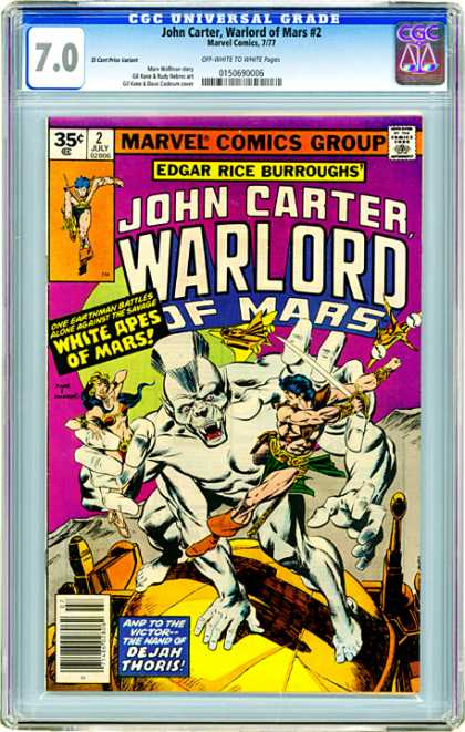 CGC Graded Comics - John Carter, Warlord of Mars #2 (CGC)