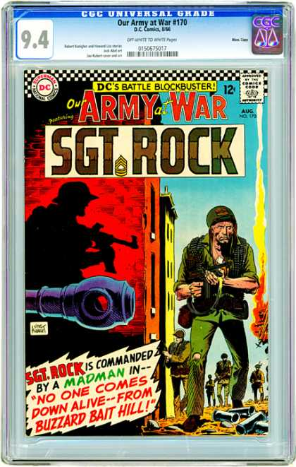 CGC Graded Comics - Our Army at War #170 (CGC) - Madman - Soldier Stands Alone - No One Comes Down Alive - Buzzard Bait Hill - Commanded