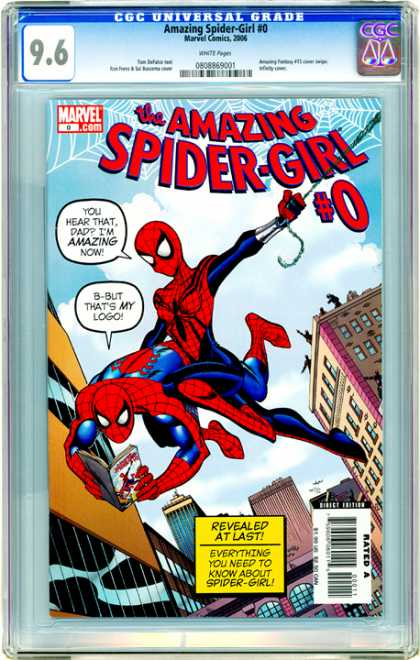 CGC Graded Comics - Amazing Spider-Girl #0 (CGC) - Amaizing Spider-girl - Marvel - Web - Revealed At Last - Rated A