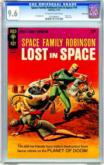 CGC Graded Comics - Space Family Robinson Lost In Space #19 (CGC) - Gold Key - Lost In Space - Man - Space Family Robinson - Planet Of Doom